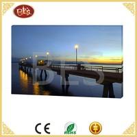 Wholesale Home Canvas Decoration Led Bridge Sea Shell For Painting