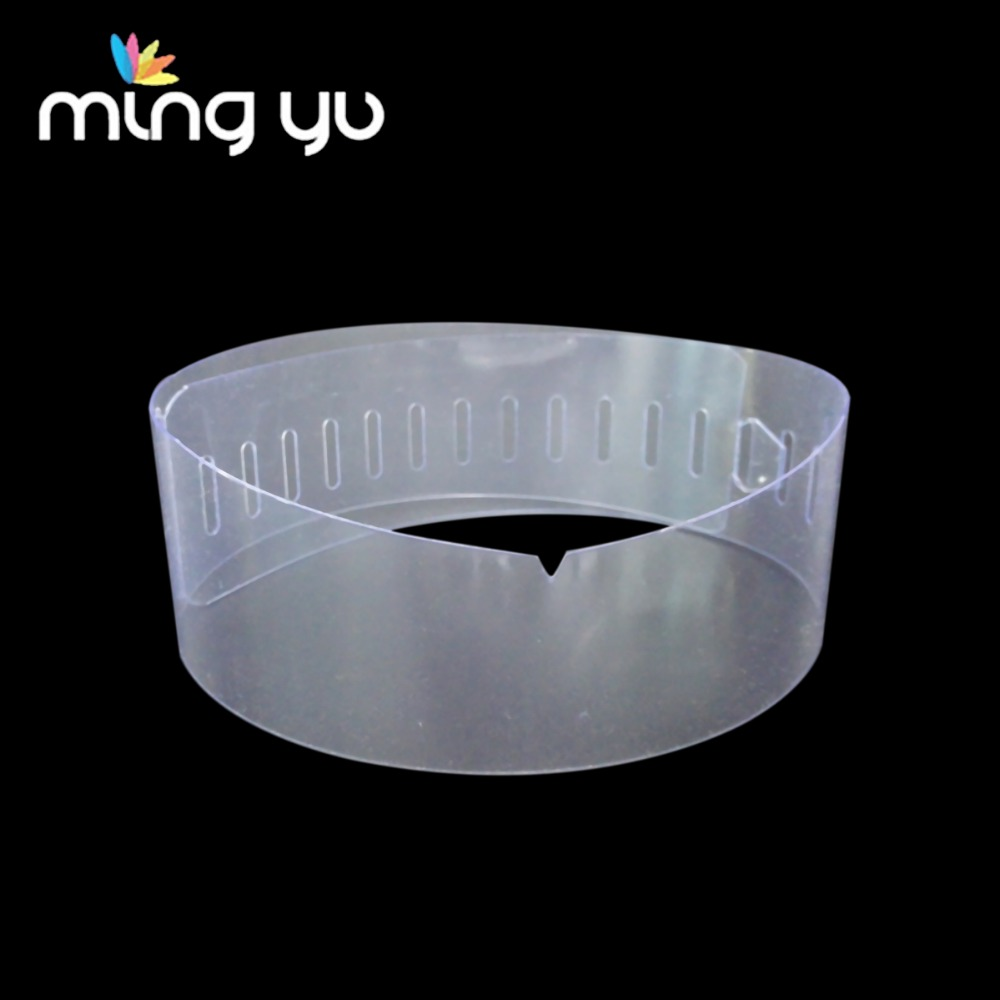 Factory Price Transparent Garment Accessories plastic collar band for shirt PVC/PET Shirt Collar Support