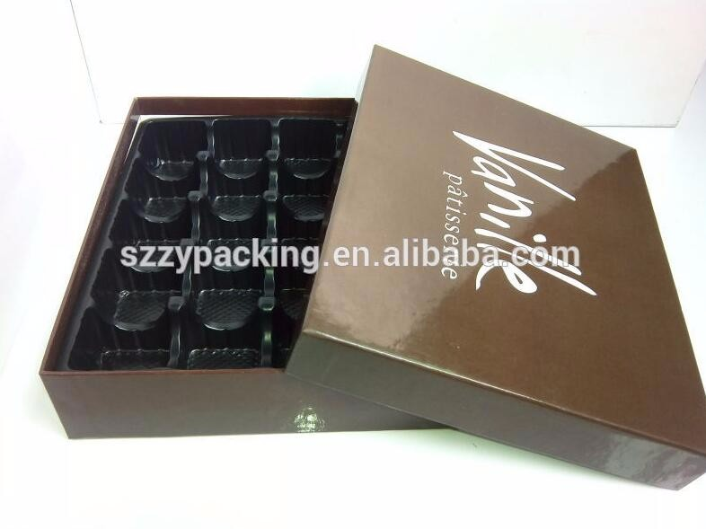 Food safety long shape paper gift box, paper chocolate gift box