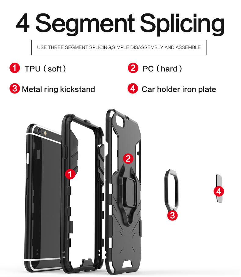 Hybrid 2 in 1 Ring Grip kickstand shockproof for iphone 6s case,cell phone case for iphone 6 6s,cover for iphone 6 case