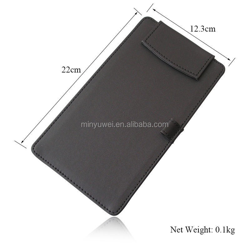 Cheap magnetic cover PU leather menu pad with pen holder