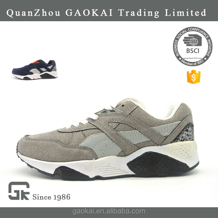 OEM lightweight gray unise brand running sport shoes low price