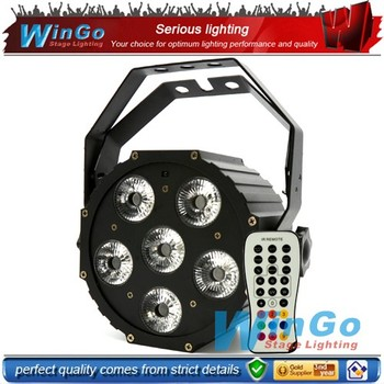 infrared ray 6 in 1 led flat back par