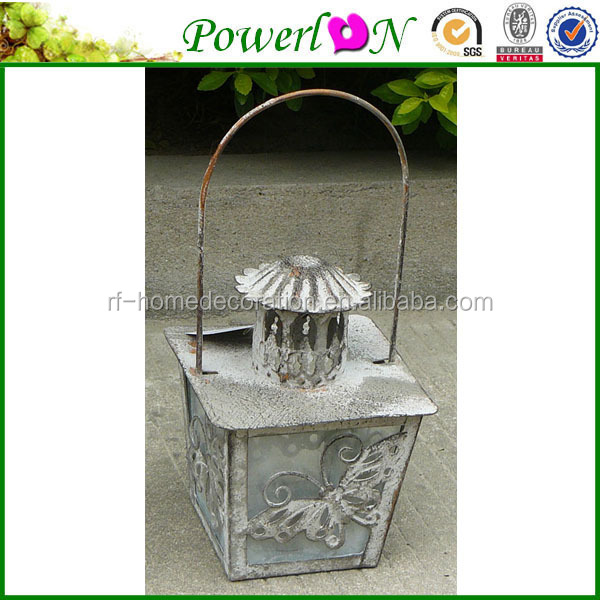 Cheap Price Vintage Design Wrought Iron Hanging Candle Holder For Garden Patio Backyard J08M TS05 G00 X11 PL08-6160