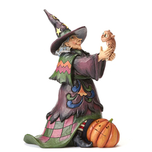 custom funny Halloween decorative ornament witch resin figurine for home decor