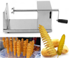 factory price manual potato ship slicer machine /tornado potato slicer