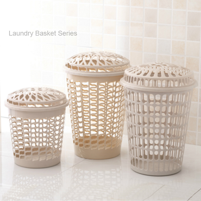 HQ6377 with cover color plastic washing laundry basket