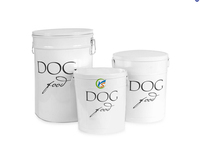 White Cheap Large Metal Dog Food Storage Canisters