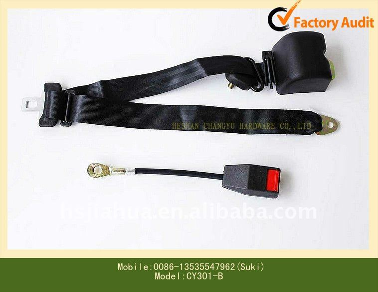 Automatic 3 points retractable polyester car seat belt