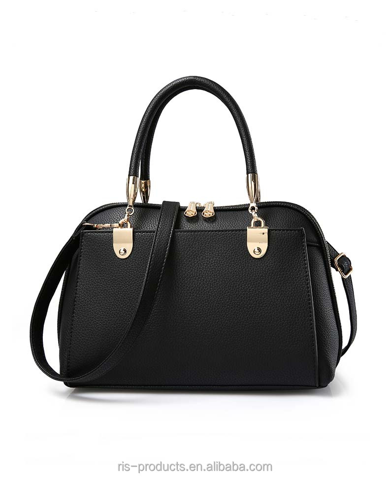 High quality pu leather ladies office bag women purse and handbag alibaba china 2016