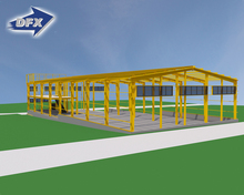 Commercial And Infrastructure Projects Steel Structures Industrial Shed Construction With Low Cost