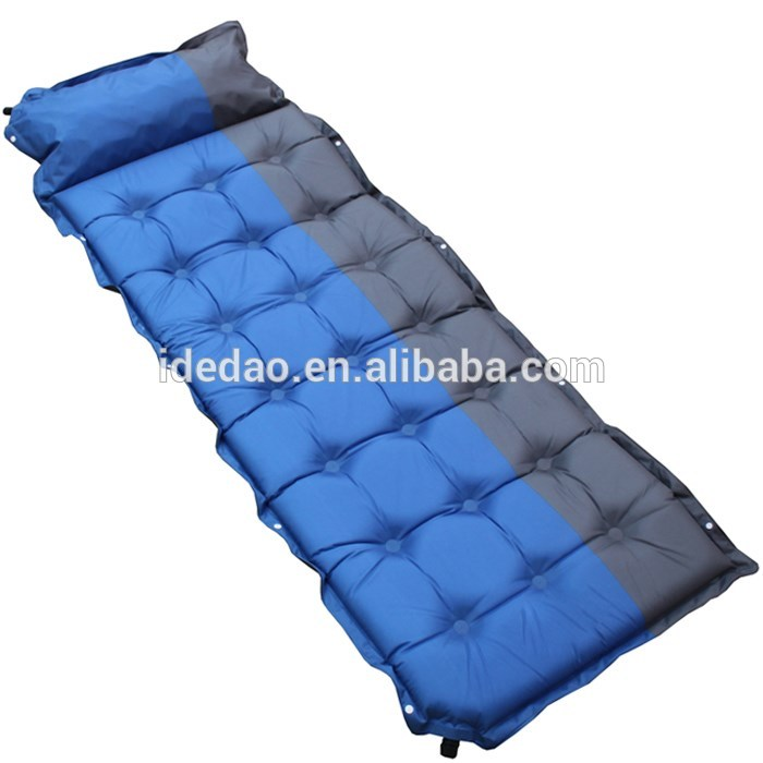 Yiwu best selling products sponge wholesale outdoor camping hiking sleeping Automatic Inflatable Mat Cushion mattress pad