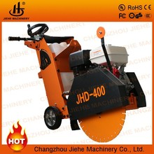 Hand push asphalt road saw cutting machine for concrete or asphalt road with CE(JHD-400)