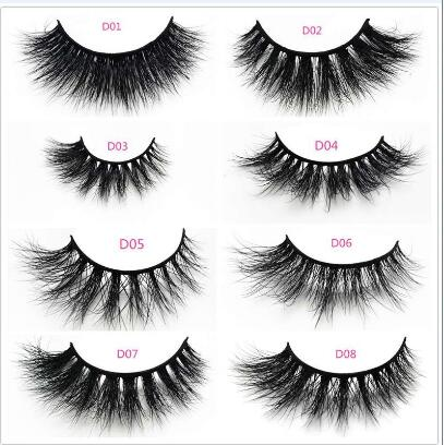 Soft new design mink fur false eyelashes real 3D eye lashes mink custom packaging and private label