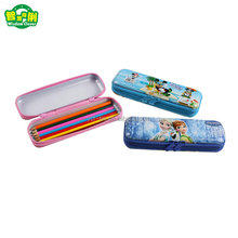 New Fashion Printing Zippered High School Tin Pencil Case