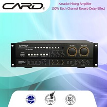 CARD 300W full range dj bass speaker amplifier 2 channel pro karaoke sets amplifier