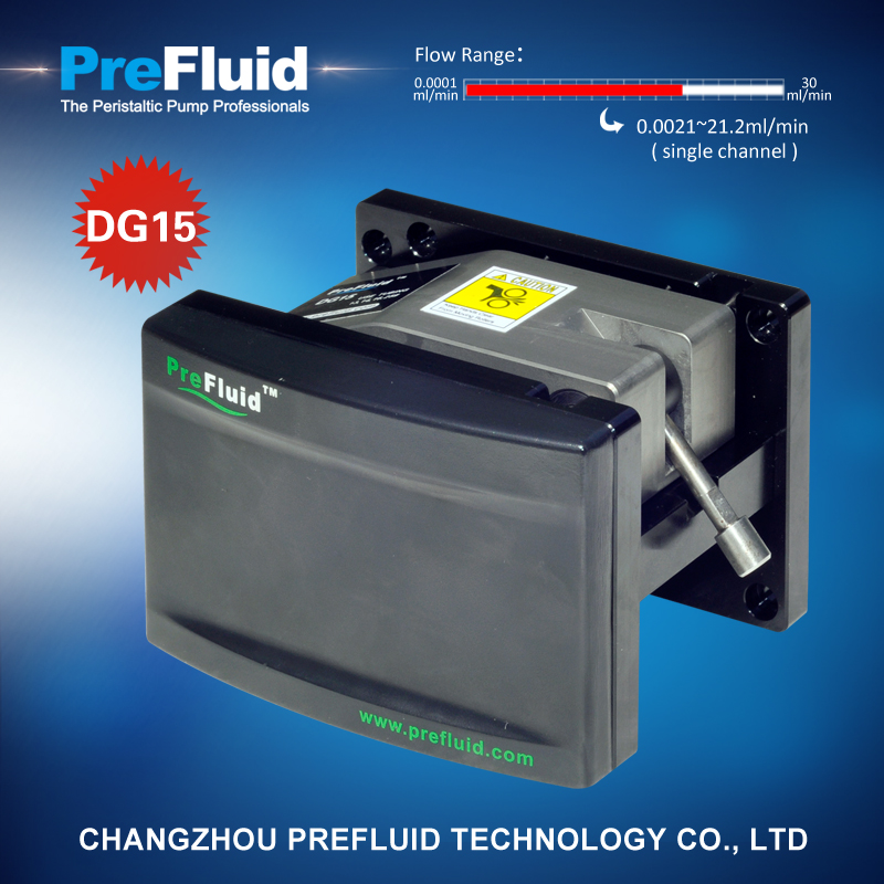 Prefluid DG15 Dispensing Pump head, vertical centrifugal pump