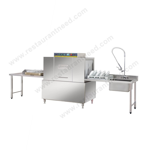 Commercial Restaurant And Canteen Dish Washing Machine Exit Table Type Dishwasher Machine Price For Sale