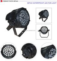 Wholesale new product DMX 512 led flat par light 36 pcs*3w mini rgbw stage lighting