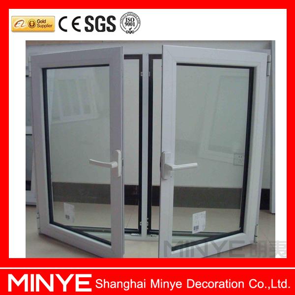 Double Glass Vinyl Window Plastic Steel Pvc Double Glass