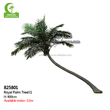 Latest plastic artificial fake palm coconut tree decoration tree for home garden
