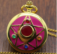 New Fashion Colorful Famous Anime Sailor Moon Series Women Lady Girl Quartz Pocket Watch