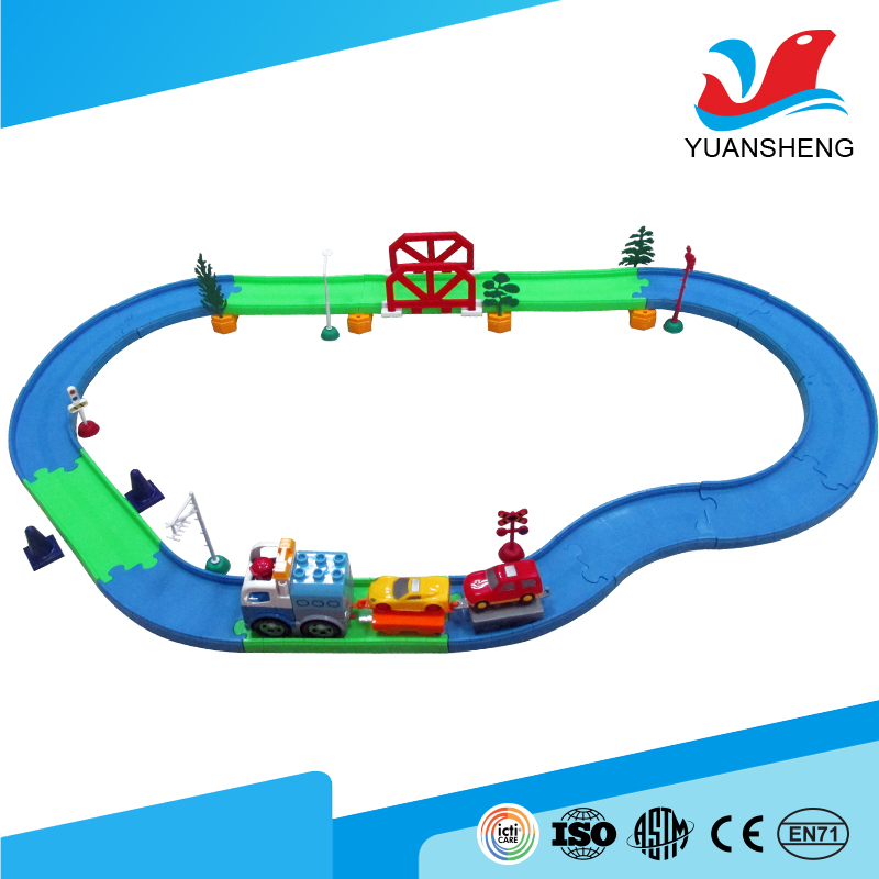 wholesale alibaba intelligent building blocks self-assembled magic track car toy for battery operated