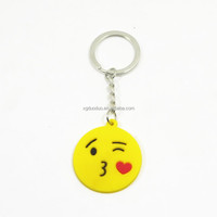Hot selling cute face designs keychain/ custom soft pvc keychains/ promotion key ring