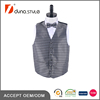 Black and White Hounds Tooth Jacquard 4 PC Set Uniform Vest