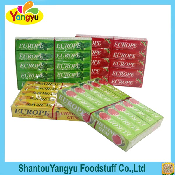 Halal Europe Xylitol Mints Fruity Flavors Chewing Gum
