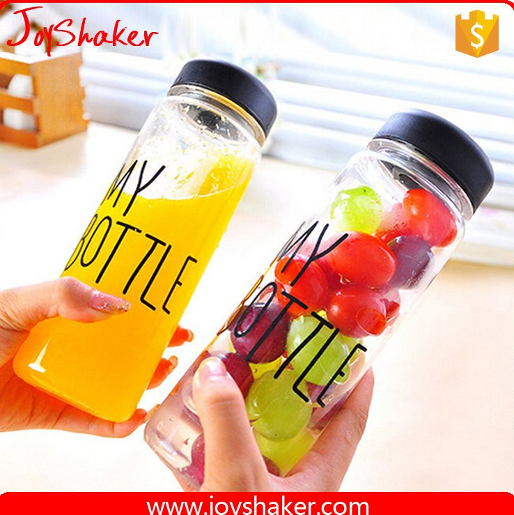 Eco-Friendly Material Custom PC Juice Bottle,500ML Tritan Plastic JoyShaker My Bottle