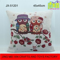 High quality square embroidery cushion for home decoration