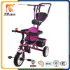 CE approved 3 EVA and AIR wheel baby tricycle with push bar and roof