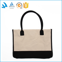 2015 Custom made printed canvas handbag , cheap shopping bag blank