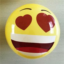 2018 Hot Selling Inflatable Emoji play Ball plastic PVC smile Face Emoti decal Playball toys for Children