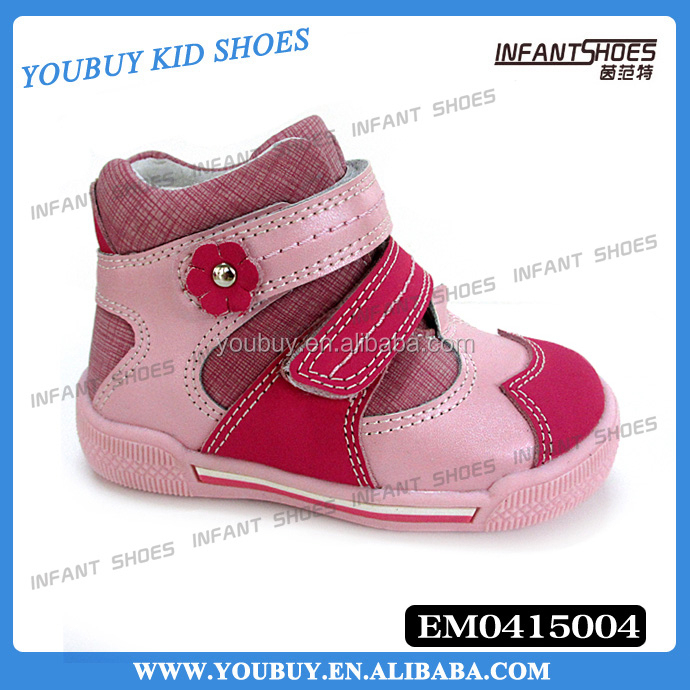 Flower buckle design baby girl cute shoes/fashion children shoes sneakers