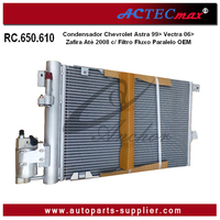 93170608 13192901 1850112 24431901 1850073 93183305 Car AC air Conditioning Condenser for RC.650.610 Opel Astra Filtro Fluxo Pa