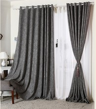 polyester cotton linen solid blackout curtains fabric for living room China manufacturer of curtains fabric