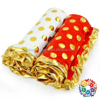 Red Gold Dots Newborn Baby Christmas Blankets ,polka dots baby blanket, blanket baby
