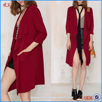 wholesale china fashion light long red trench coat woman and ladies coats pictures
