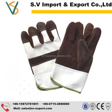 China manufacturer good price cow split working safety gloves