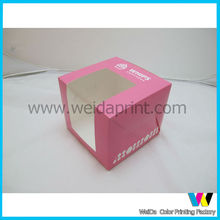 pink cupcake box with one cave