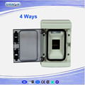 ABS electrical plastic busbar distribution box 4 ways IP65 mcb distribution box