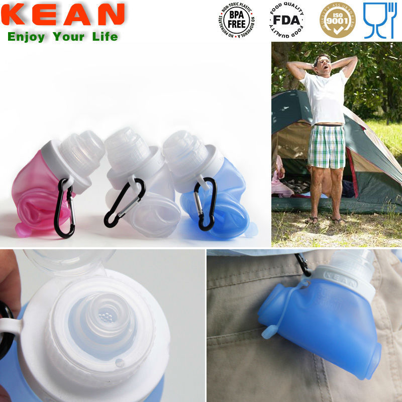 Food Grade Squeeze Silicone Sports Water Bottle Carrier/Empty Sports Water Bottle Carrier