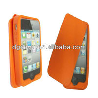 blank back cover silicone case for iphone5 with folding design