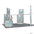 island exhibition expo stand 6x6, 20x20 exhibition expo stand for trade show from china