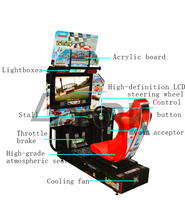 Malaysia Price 32 inch HD Outrun Racing Simulator Car Racing Game Machine coin operated game machine