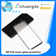 Case friendly clear full coverage tempered glass screen protector for samsung S8 glass screen protector