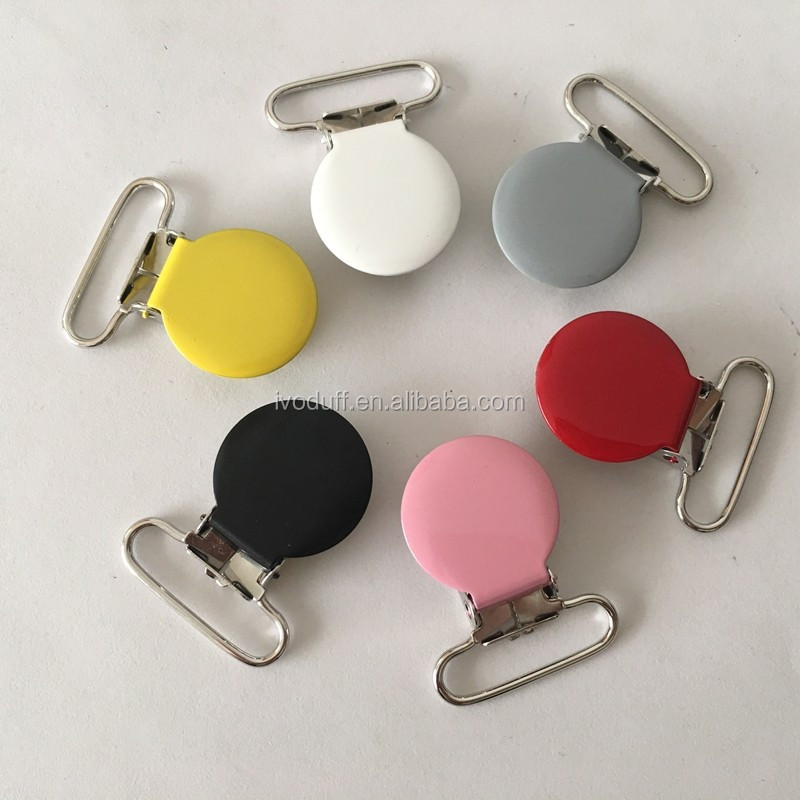 Manufacture Non-Toxic Colorful Metal Pacifier Clip For Kids