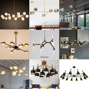 Chandalier 2017 New Design Modern Black Lampshade Dining Room Simple Modern Chandelier